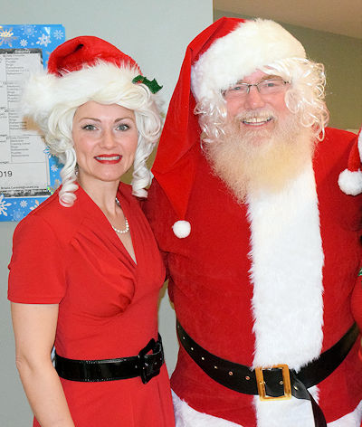 Holly and Santa